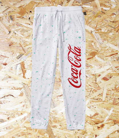 Diamond x Coca Cola, Sweatpants, White, Cotton,  Official, Diamond Supply, Coca Cola, Collaboration, Brighton, Skate Shop, Level Skateboards, Independent