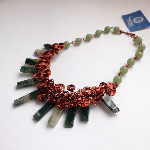 Ethnic Natural Green Agate