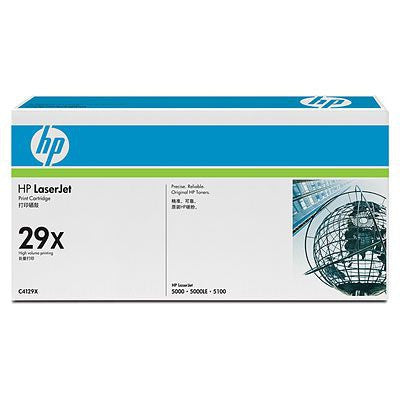 HP 29X High Yield Black Original LaserJet Toner Cartridge Laser cartridge 10000sider Svart