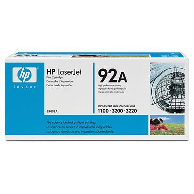 HP 92A Black Original LaserJet Toner Cartridge Laser cartridge 2500sider Svart