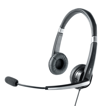 JABRA UC Voice 550 MS Duo Noise-Cancelling Wideband Microphone boom: flexible intuitive Call-Control buttons Plug-and-Play