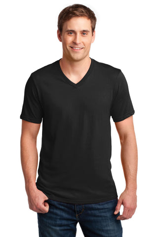 Anvil¬ 100% Ring Spun Cotton V-Neck T-Shirt. 982