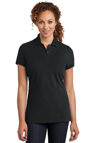 District Made¬ Ladies Stretch Pique Polo. DM425