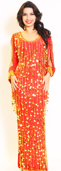 Galabeya Fringe Dress 23143