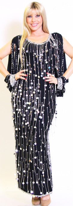 Galabeya Fringe Dress 23146