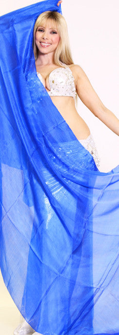 Royal Blue Silk Veil