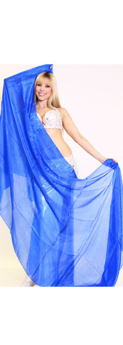 Royal Blue Silk Veil ~