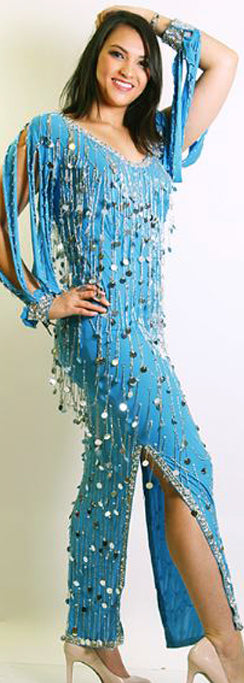 Galabeya Fringe Dress 23799