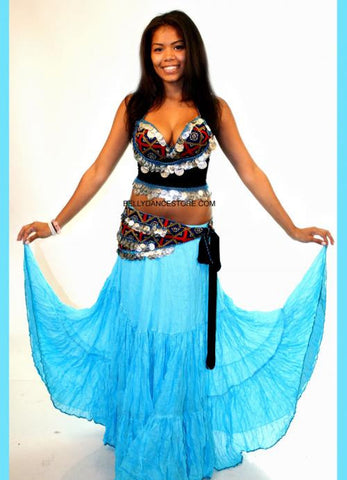 Blue Tribal Skirt