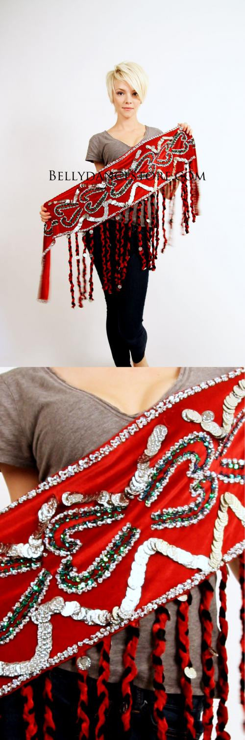 Braided Fringe Hip Scarf