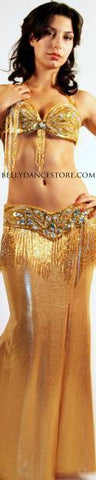 Gold Lycra Skirt  XXLarge