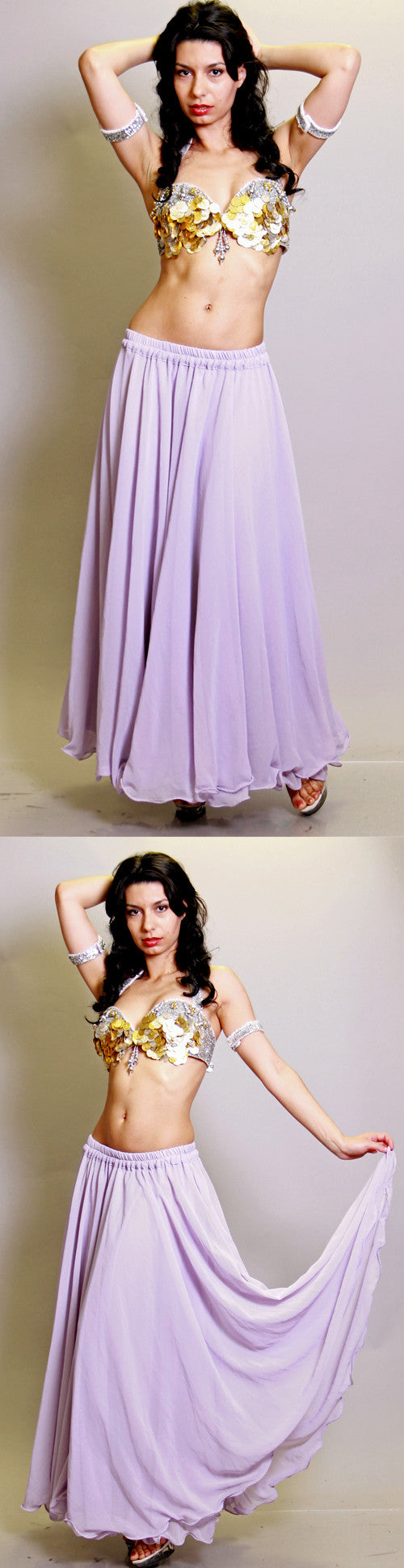 Light purple Double Chiffon Skirt