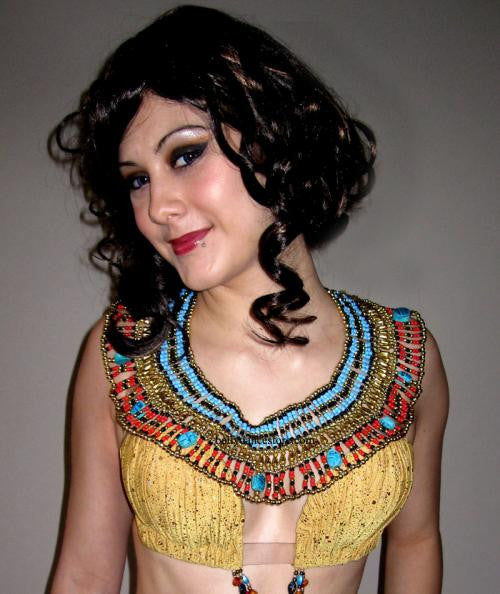 Scarab Bib Necklace