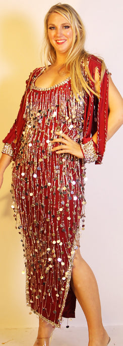 Galabeya Fringe Dress 23798