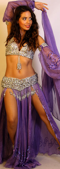 Pharaonics of Egypt Sohair Zaki/Arabesque Purple Skirt/Veil Set 23743