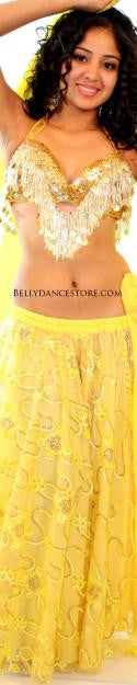 Yellow Lacey Skirt