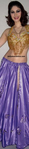 Purple Hanan Satin Skirt