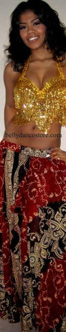 Burgundy Bollywood Skirt