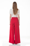 Red wide leg trousers