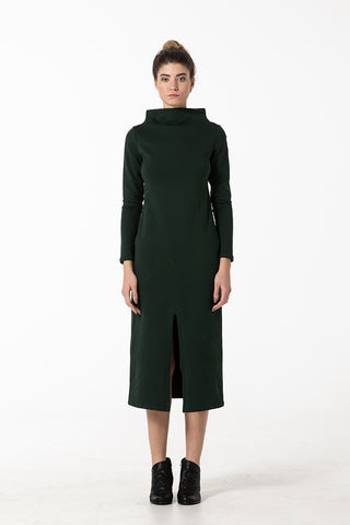 Dress in winter green