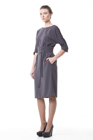 Grey kimono-type dress