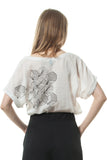 Silk-screen printed blouse