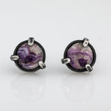 "Silver earrings ""Purple dream"""