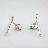 Silver earrings - simple line