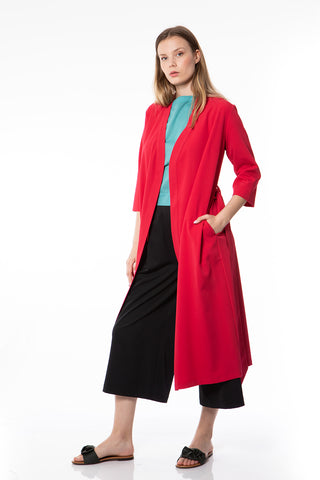 Urban coat in red