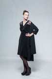Black coat-dress of Margarita