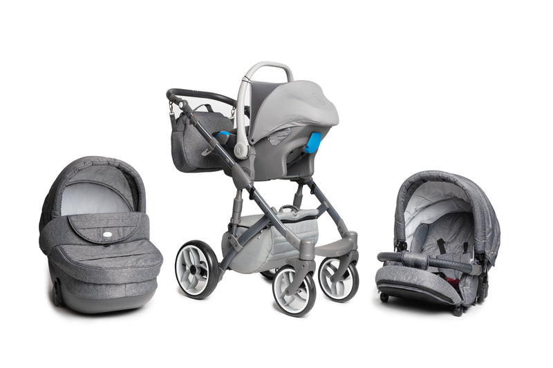 Baby Merc Faster 3 Travel System with car seat (grey)