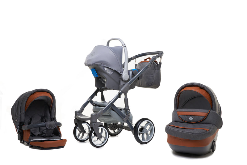 Baby Merc Faster 3 Travel System with car seat (charcoal)