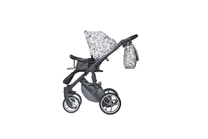 Baby Merc Faster 3 Travel System with stroller seat (grey monochrome)