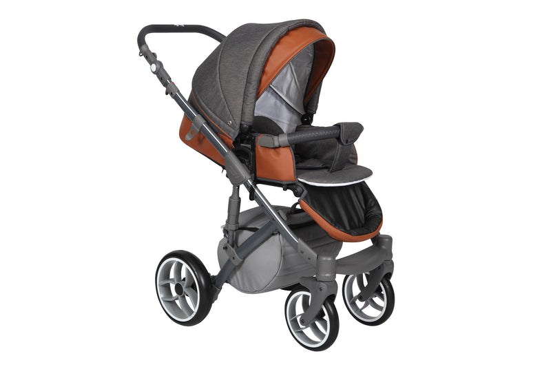 Baby Merc Faster 3 Travel System with stroller seat (charcoal)