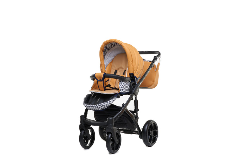 Baby Merc Faster 3 Travel System with stroller seat (mustard+black)