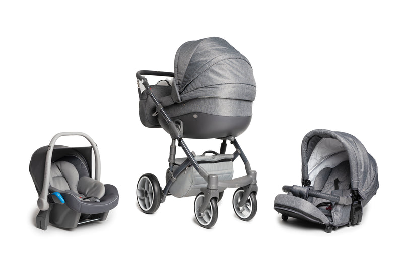 Baby Merc Faster 3 Travel System (grey)