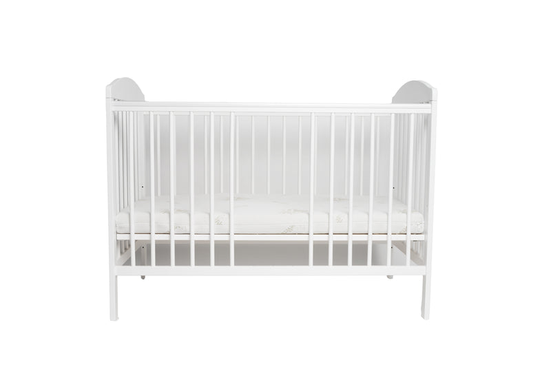 Tomi 7 baby cot with mattress and open rung