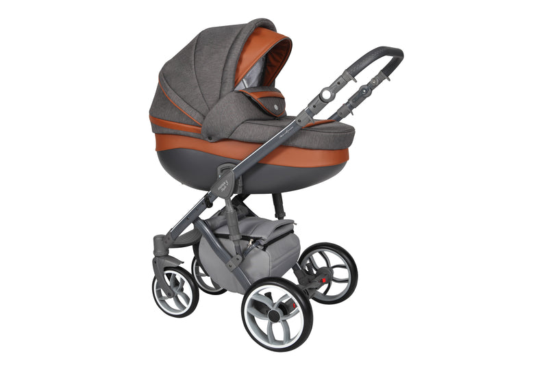 Baby Merc Faster 3 Travel System with carry cot (charcoal)