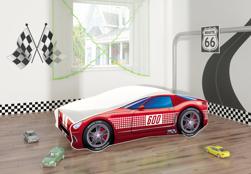 ACMA V car bed (track red) in a room