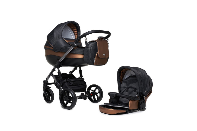 Baby Merc Faster 3 Limited Edition Stroller (2in1, charcoal)