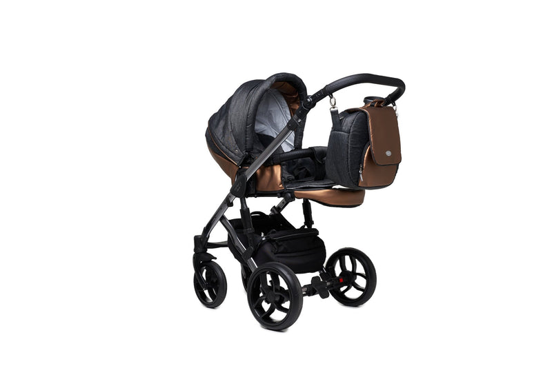 Baby Merc Faster 3 Limited Edition Stroller with stroller seat (2in1, charcoal)