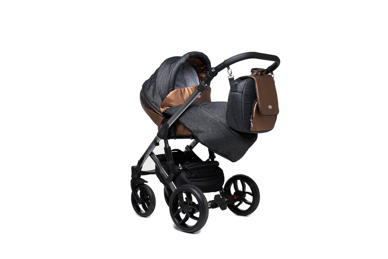 Baby Merc Faster 3 Limited Edition Stroller with stroller seat and foot cover (2in1, charcoal)