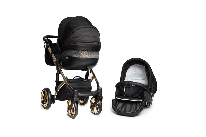 Baby Merc Faster 3 Limited Edition Stroller (2in1, black+gold)
