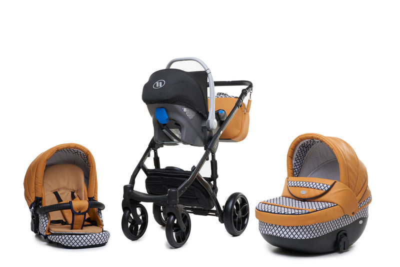Baby Merc Faster 3 Travel System with car seat (mustard+black)