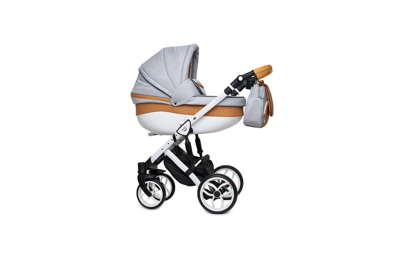 Baby Merc Faster 2 Travel System with carry cot (grey+orange)