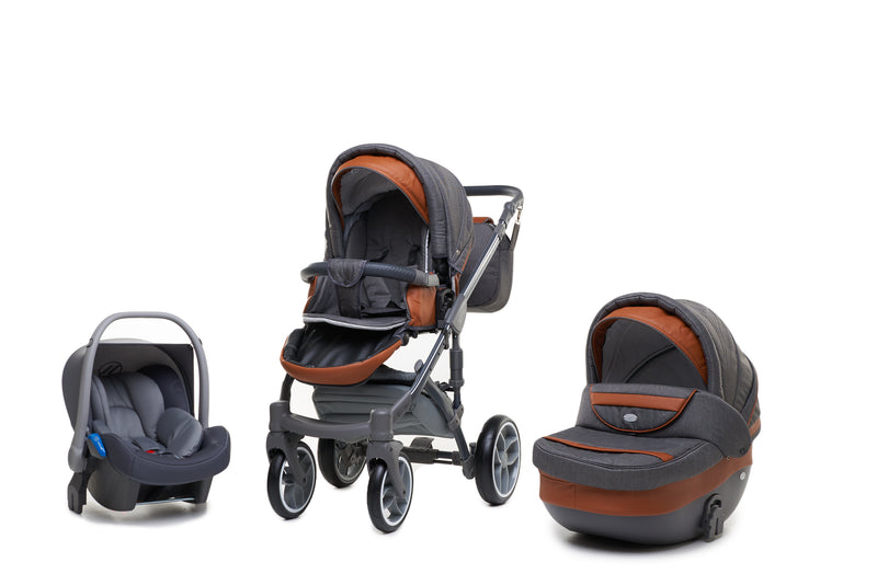 Baby Merc Faster 3 Travel System (charcoal)