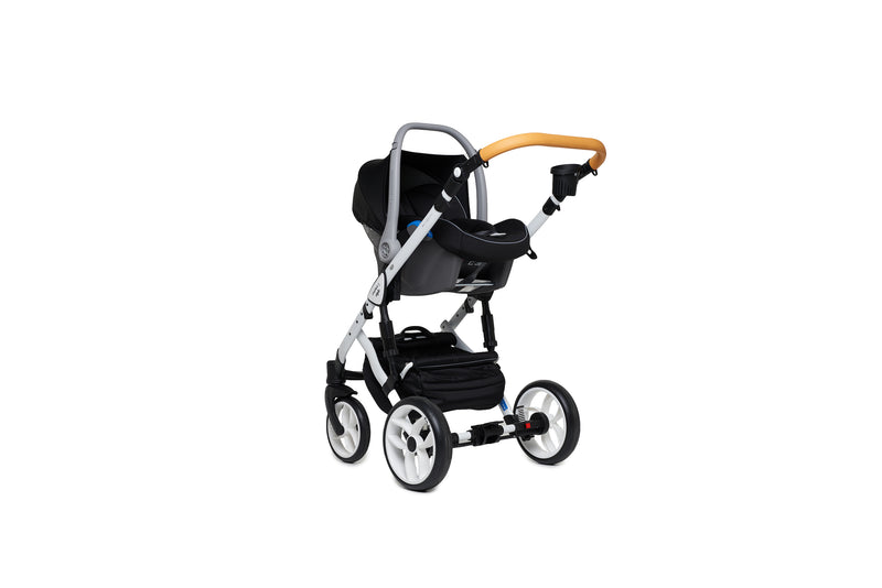 Baby Merc Faster 2 Travel System with car seat (grey+orange)