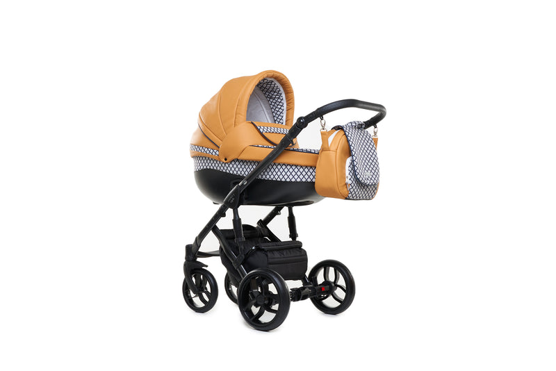 Baby Merc Faster 3 Travel System with carry cot (mustard+black)