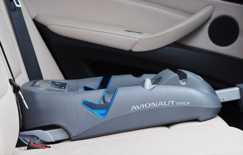 Avionaut DOCK isofix base in the car close-up