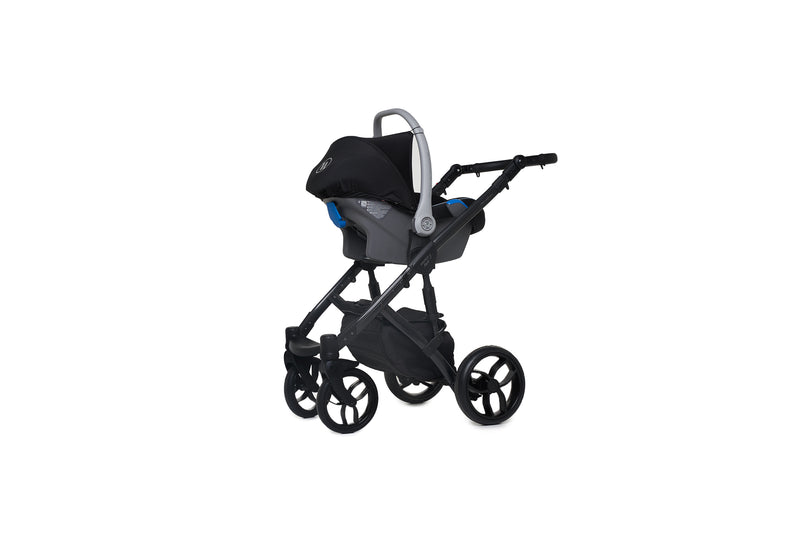 Baby Merc Faster 3 Travel System frame with car seat